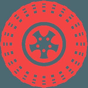 Автомобильная шина - Векторный Силуэт