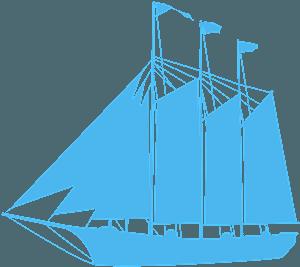 Segelfartyg silhuett