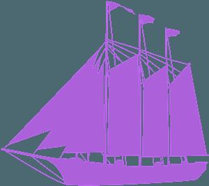 Високий корабель - векторний силует