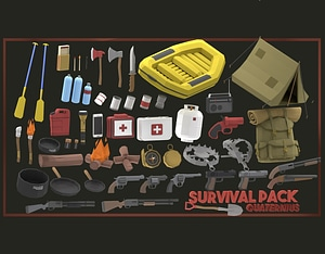 Survival Pack 3D Model
