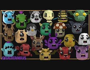 Cute Animated Monsters 3D Model