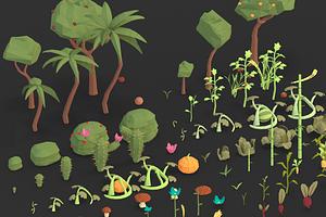 Nature Crops Pack 3D Model
