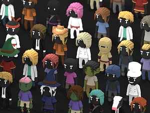Animated Character Pack 3D-model