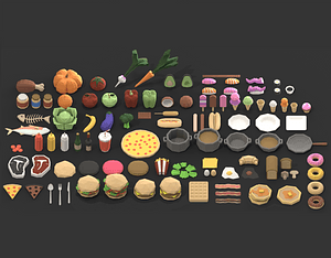 Ultimate Food Pack 3D Model