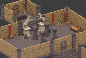 Modular Dungeon Pack 3D Model