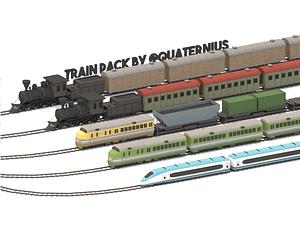 Train Pack 3D Model