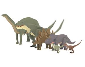 Dinosaurs Pack 3D Model