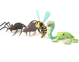 Animated Animal Enemies Pack 3D Model