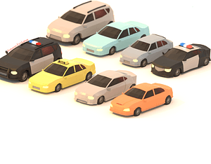 Car Pack 3D Model