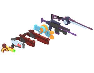 Sc-fi Gun Pack 3D Model