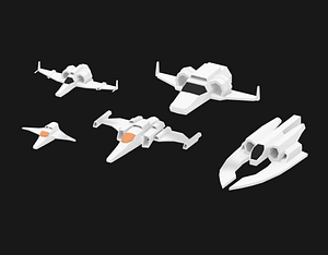 Spaceship Pack 3D Model