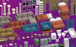 House Interior Pack 3D Model