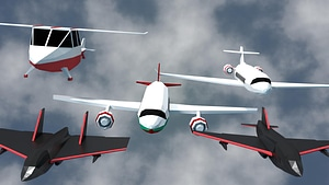 Airplanes Pack 3D Model