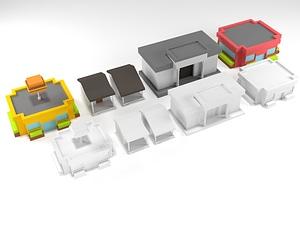 Suburban Pack 3D-model