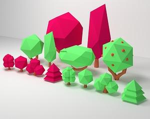 Bush Pack 3D Model