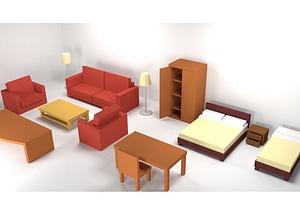 Furniture Pack 3D Model