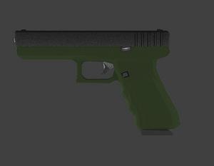 Animated glock pistol 3D Model