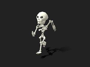 Animated Skeleton 3D Model