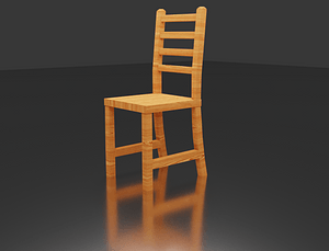 Wood Chairs 3D Model