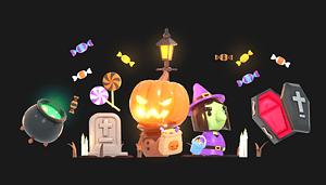 Halloween-pakke 3D-model