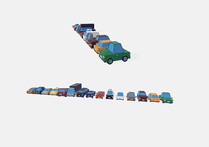 Low Poly Cars 3D-model
