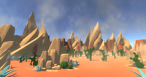 Low Poly Desert 3D Model