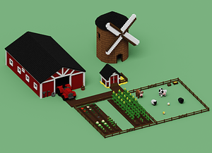 Low Poly Farm Pack 3D Model