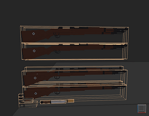 Low poly German assault rifles 3D Model