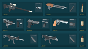 Low Poly Guns 3D Model