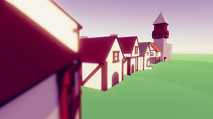 Low Poly Medieval Buildings 3D Model