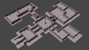 Low Poly Medieval Dungeon Asset Pack 3D Model