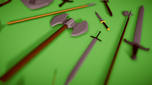 Low Poly Medieval Weapon Pack 3D Model
