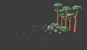 Low Poly Nature Pack 3D Model