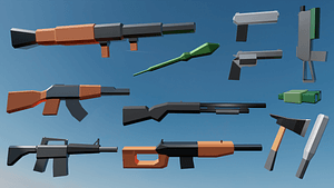 Low-Poly Weapon Pack 3D Model