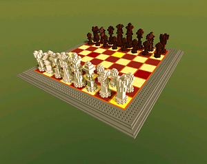 Pixel Chess 3D Model