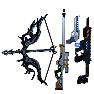 Pixel Weapons 3D Model