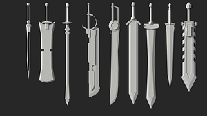 Swords Pack 3D Model