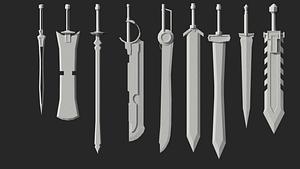 Sværdspakke 3D-model