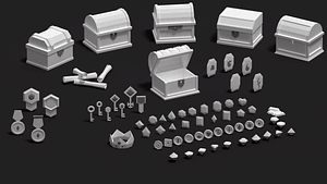 Treasure Pack 3D Model