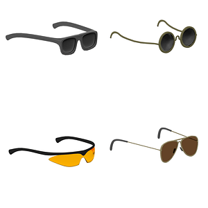 Set of Sunglasses 3D Model