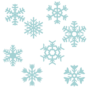 Set of Snowflakes 3D Model