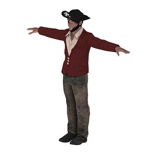 Pirate modèle 3D