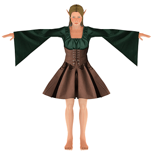 Elf flicka 3D-modell