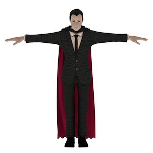 Comte Dracula modèle 3D