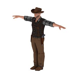Cowboy modèle 3D