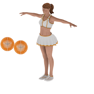 Cheerleading girl 3D Model