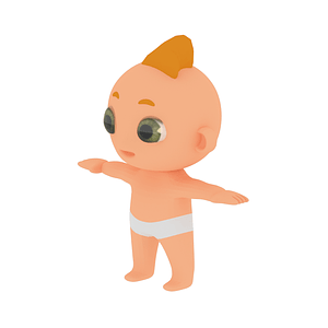 Cartoon Baby 3D 모델