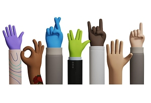 Cartoon Hands 3D-model
