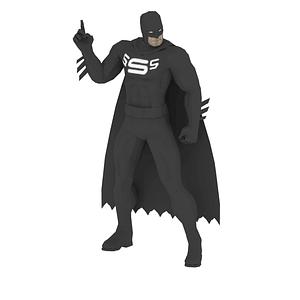 Modello 3D di Supereroe