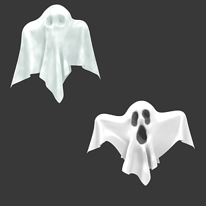 Set of ghosts 3D Model